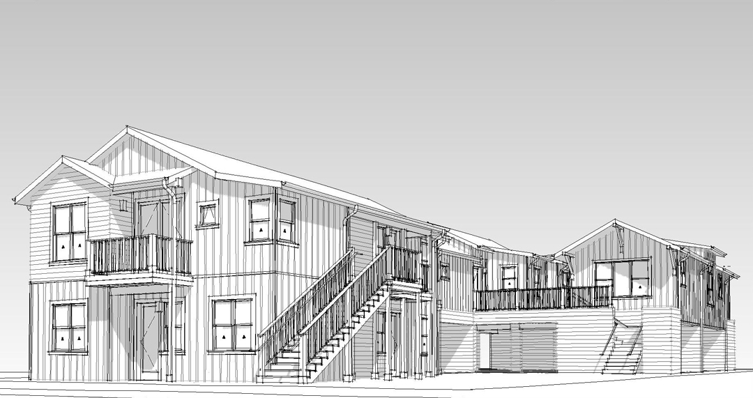8 unit apartment project proposed to replace single family for Single family homes with inlaw apartments