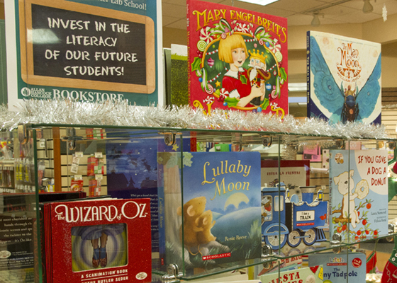 <p>For the second year, the Allan Hancock College Bookstore is matching every children's book sold with the donation of a book to the college's Children's Center Lab.</p>