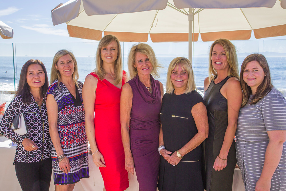 The CALM at Heart event committee includes, from left, Adele Laufer, Sherri Ball, Fiona Stone, Pati Clark, chair Stephanie Sokolove, Susan Henry and Ashlyn McCague.