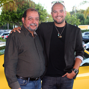 Goleta City Councilman Roger Aceves with son Tim. (Melissa Walker / Noozhawk photo)