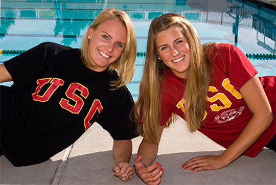 Lindsay Parrish, left, and Lolo Blair have been stars at Santa Barbara High but will suit up for USC next year.