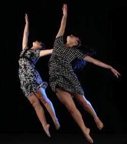 UCSB dancers Devon Stern, left, Lauren Serrano will be part of the States of Mind fall dance concert.