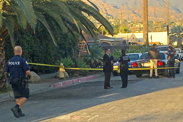 Santa Barbara police were called to the 200 block of Palm Avenue Wednesday afternoon to investigate after the body of a homeless main was found on the sidewalk. No foul play is suspected in the death.