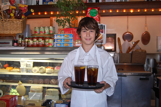<p>Santa Barbara Middle School seventh-grader Brad Besserman learns the ways of the fast-paced restaurant life during his week of work at Via Maestro.</p>