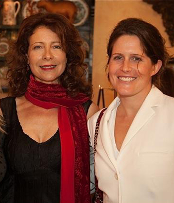 Diana Basehart Foundation co-founder Toni Frohoff, left, with Sarah Lee Gore, who was there representing her mother, Tipper Gore, who had helped create a short film shown at the fundraiser. (Isaac Hernandez photo)