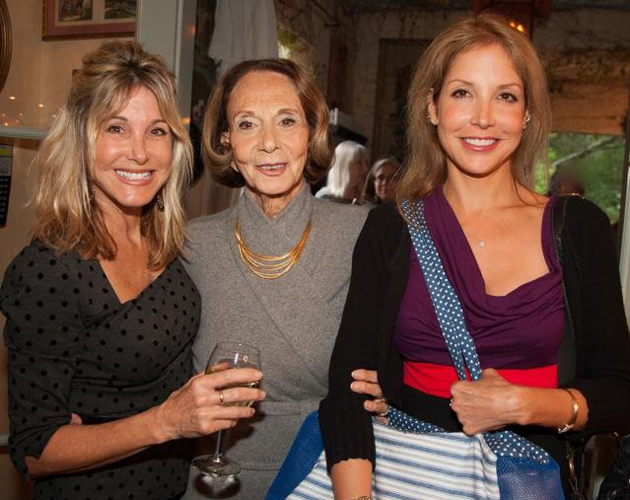 Diana Basehart Foundation co-founder Lynne Shaw, left, with founder Diana Basehart and daughter Gayla at the foundation's first fundraiser, held last Saturday at the Montecito home of Penny Bianchi. (Isaac Hernandez photo)