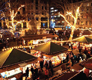 The outdoor Christmas Market. (Four Seasons Hotel Gresham Palace photo)