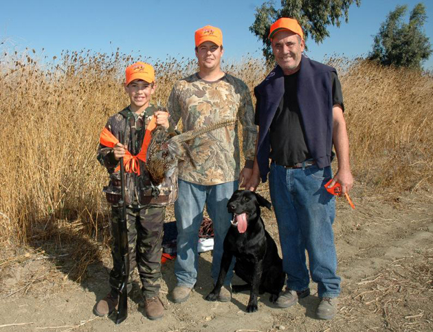 Family hunting at the Yolo Bypass Wildlife Area. (Dave Feliz photo / California Department of Fish & Game)