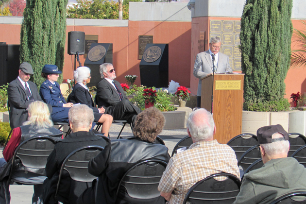 "Edward ""Jim"" Zemaitas, president of the Santa Maria Valley Historical Society, talks about researching the names of local World War I casualties for the city's Veterans Memorial."