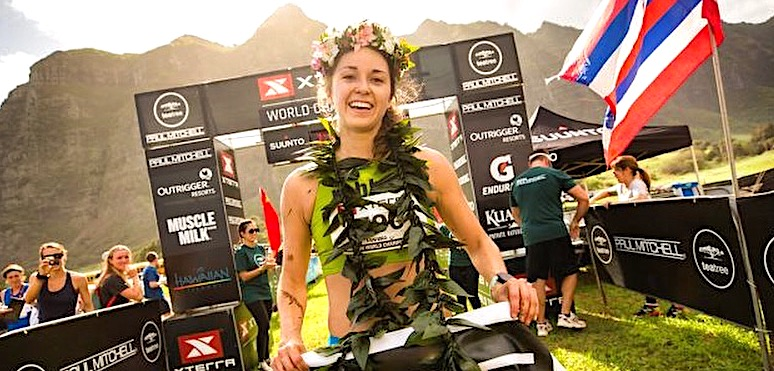 Dani Moreno of Santa Barbara won the 21k race at the Xterra Trails World Championships in Hawaii.