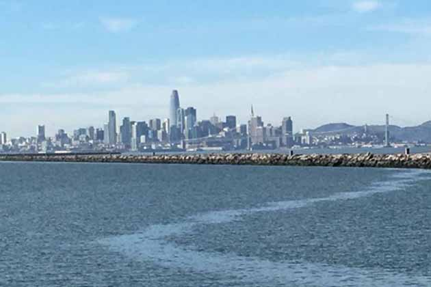 The Alameda rock wall within the San Francisco Bay is considered a public pier for fishing purposes.