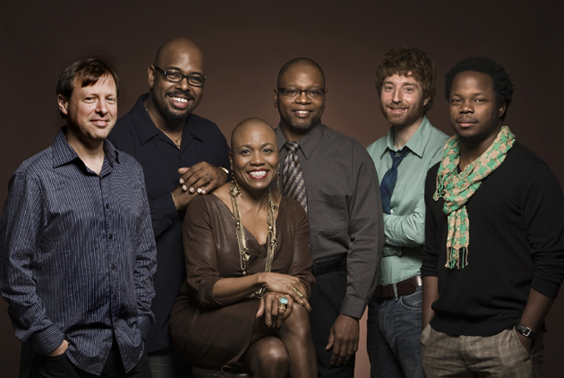 The star-studded Monterey Jazz Festival band consists of vocalist Dee Dee Bridgewater, bassist and musical director Christian McBride, pianist Benny Green, drummer Lewis Nash, saxophonist Chris Potter and trumpeter Ambrose Akinmusire. (Monterey Jazz Festival photo)