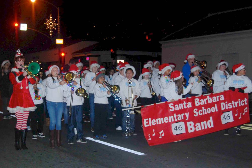 BRAVO! students march in the annual Milpas Holiday Parade on Milpas Street on Santa Barbara's Lower Eastside. Among the bands taking center stage in the holiday parade were ones from surrounding Santa Barbara Junior High and Santa Barbara High schools.