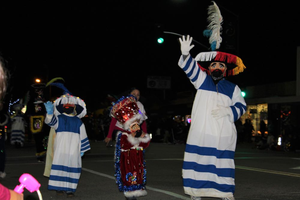 Costumed paraders charmed the crowds at the Old Town Goleta Christmas Parade.