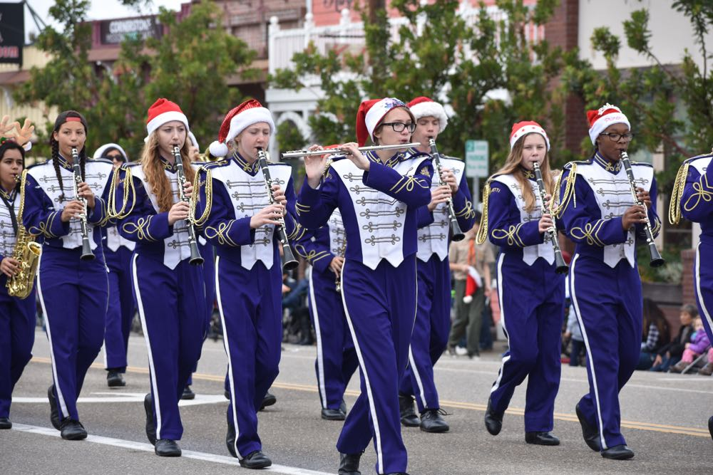 The Righetti High School Warriors Marching Band provided entertainment along the parade route.