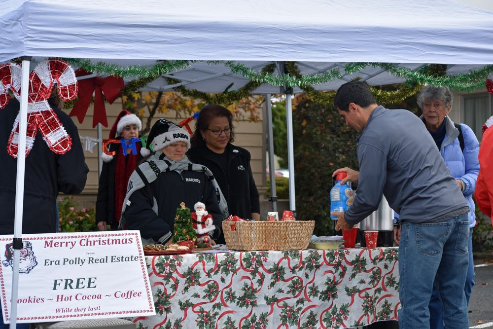 ERA Polly Real Estate served free cookies, coffee and hot chocolate for Old Town Orcutt Christmas Parade spectators.