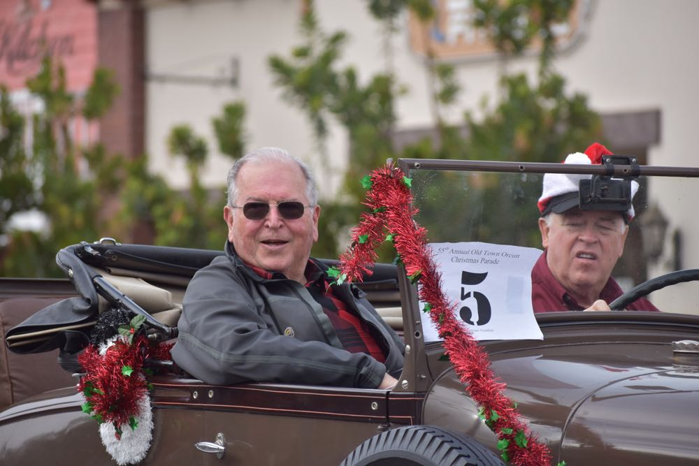 Old Town Orcutt Christmas Parade Grand Marshal Jerry Luis.