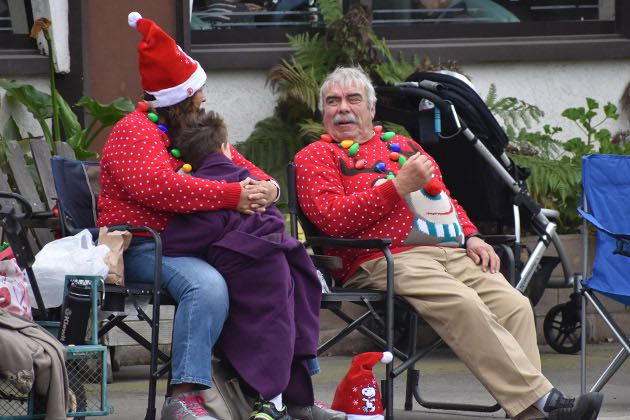 Nipomo residents Lori and Gary Smith, formerly of Orcutt, were sporting festive Christmas sweaters for the Old Town Orcutt Christmas Parade.