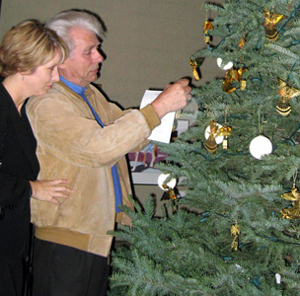 Visiting Nurse & Hospice Care's Angels Among Us events include an opportunity to hang an angel ornament in memory of a loved one on the memorial tree. (Visiting Nurse & Hospice Care photo)
