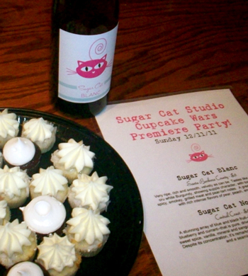 Alison Riede hosted a viewing party Sunday night of her episode of Cupcake Wars on the Food Network.