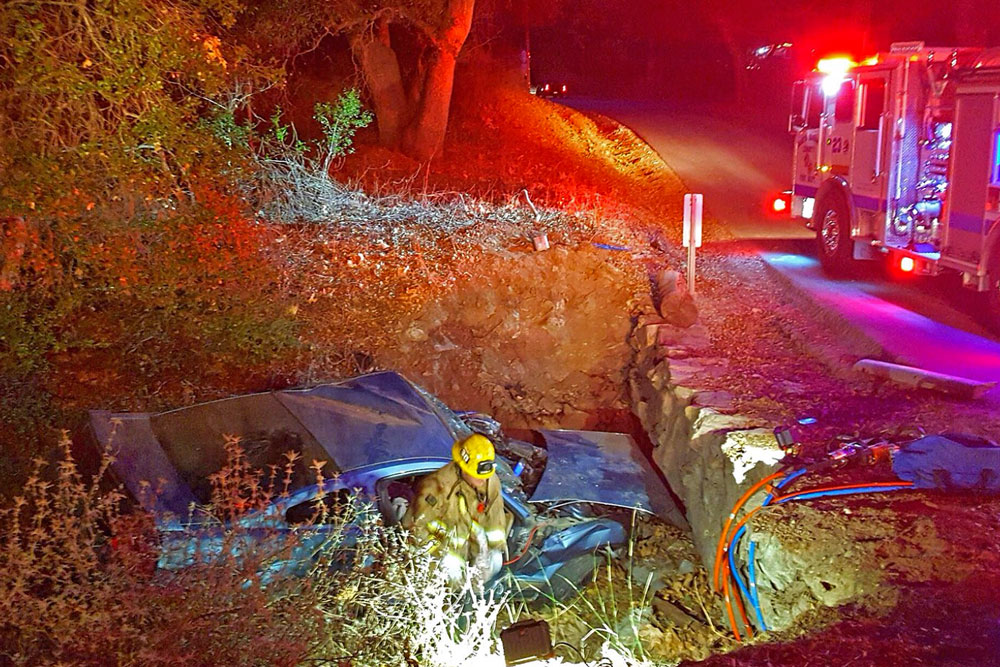 Two people suffered major injuries Tuesday night in a single-vehicle crash on Tepusquet Road east of Santa Maria. The accident wasn't discovered until Wednesda morning.