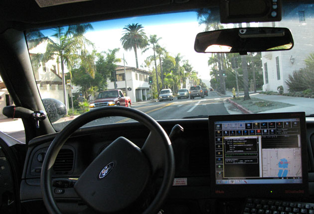 The Santa Barbara City Council has unanimously approved a plan to place dashboard cameras in all of the Police Department's patrol vehicles. (Giana Magnoli / Noozhawk file photo)