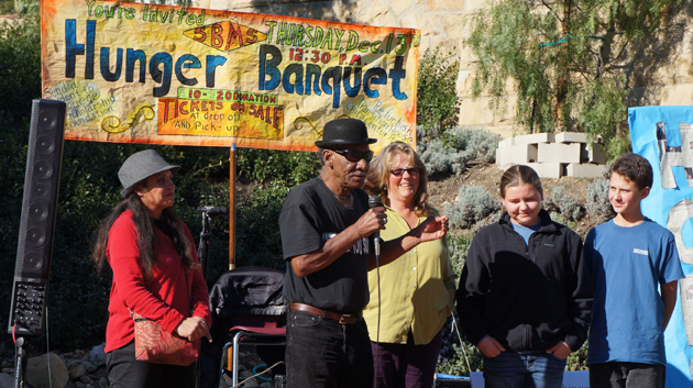 <p>Santa Barbara Middle School&#8217;s &#8220;Hunger Banquet&#8221; featured local guitarist Billy Taylor, joined by speakers Janice and Teresa and Santa Barbara Middle School students Wilson and Makenna from the Community Action Club.</p>
