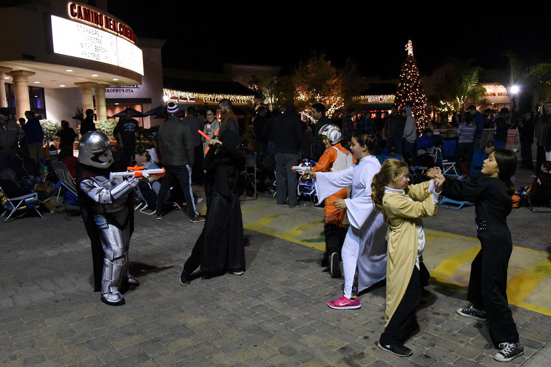 While youngsters were learning lightsaber skills at the Santa Maria Valley Discovery Museum, an older crowd was gettig into the action at the Camino Real theaters in Goleta.