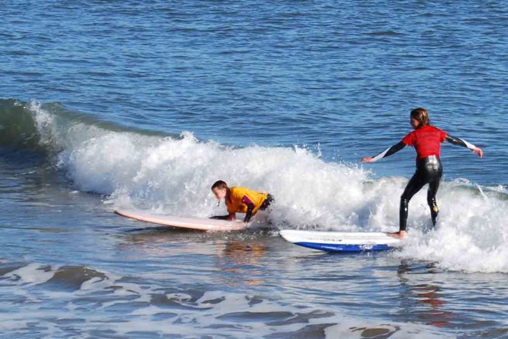 The annual Lakey Peterson Keiki Bowl featured 205 surfers ages 14 and younger surfing Leadbetter Beach in Santa Barbara.