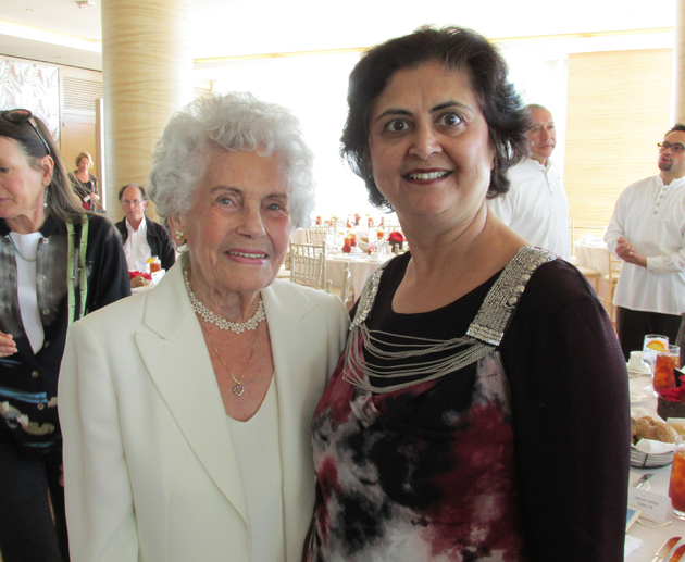 Patty Macomber, left, and Madhu Khemani.