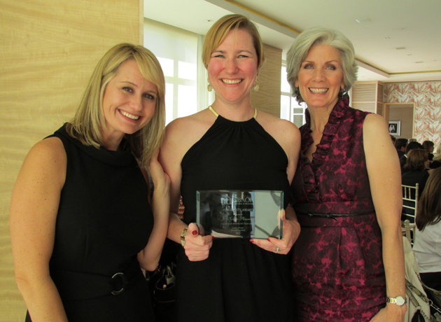 President's Award honoree Krista Pleiser, center, with Ani Pollack and Mary Cantello.