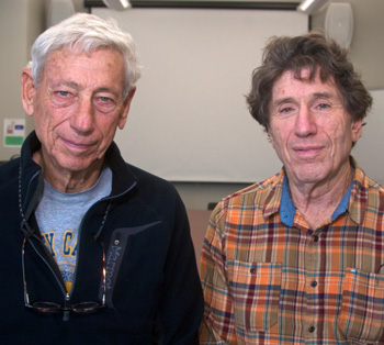Former UCSB faculty member William Felstiner, left, and current faculty member Richard Appelbaum founded the nonprofit Chad Relief Foundation. (Rod Rolle / UCSB photo)
