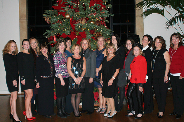 Officers and board members for the Santa Barbara Chapter of the National Association of Business Owners are, from left, Marjorie Large, Chanda Fetter del Campo, Suzanne McNeely, Diana Bull, Karen Mora, Joy Margolis, Kim Clark, Judy Pirkowitsch, Corena Bahr, Teri Coffee McDuffie, Naomi Dewey, Amber Wallace, Dr. Gloria Kaye, Mikki Reilly, Maeda Palius and Julia Tipolt. Dawn Hampton is not pictured. (Melissa Walker / Noozhawk photo)