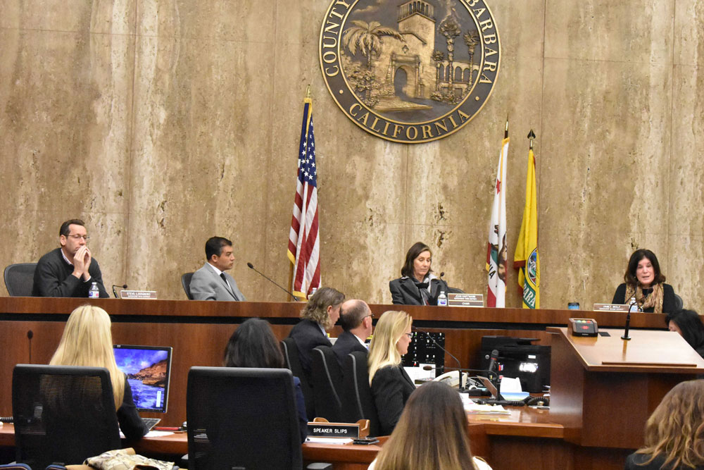 The Santa Barbara County Board of Supervisors on Thursday unanimously approved a local health emergency and the first step for facilitating cleanup of toxic waste created by the Thomas Fire.