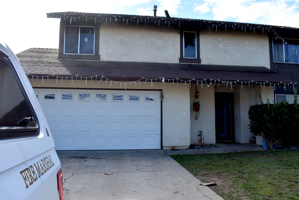 Family, friends and strangers are rallying around a Santa Maria family after flames ripped through the second-story of their home while the parents and four children celebrated Christmas evening elsewhere.
