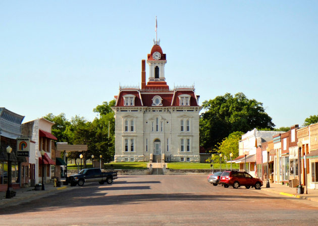 The Chase County Courthouse in Cottonwood Falls, the oldest operating courthouse in Kansas.
