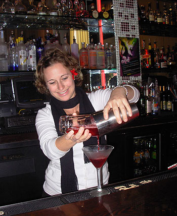 The economic slowdown has been felt at Stateside Restaurant & Lounge in La Arcada, according to owner Joe Middler, but bartender Nikki Creel is still pouring drinks with a welcoming smile.