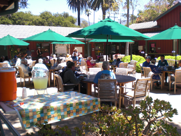 <p>The Friendship Center, an adult day center with locations in Santa Barbara and Goleta, offers its participants courtyard and patio choices for meals and activities.</p>