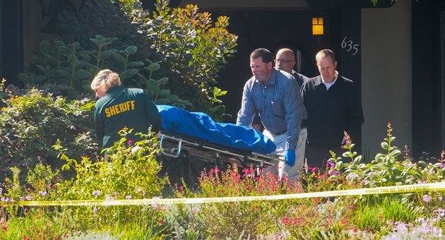 Coroner s bureau staff removed four bodies from a house for Adams salon kings highway