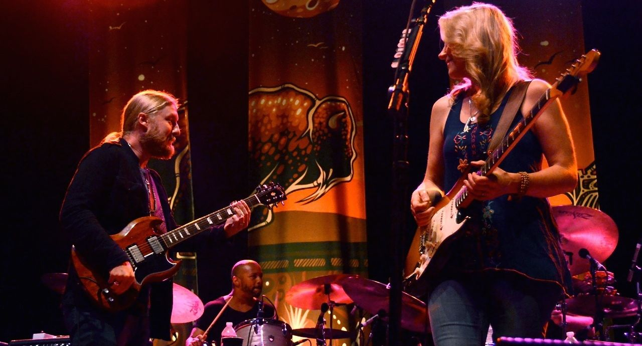 The husband-and-wife team of Derek Trucks and Susan Tedeschi and their Tedeschi Trucks Band perform at the Vina Robles Amphitheatre in Paso Robles.