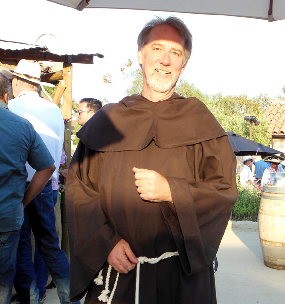 Historian Neal Graffy dressed as a friar for the event.