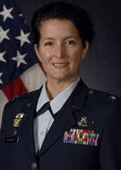 Air Force Col. Nina Armagno, commander of the 30th Space Wing at Vandenberg Air Force Base, says base officials have tried to make 'deliberate, well-thought, logical reductions.' (U.S. Air Force photo)