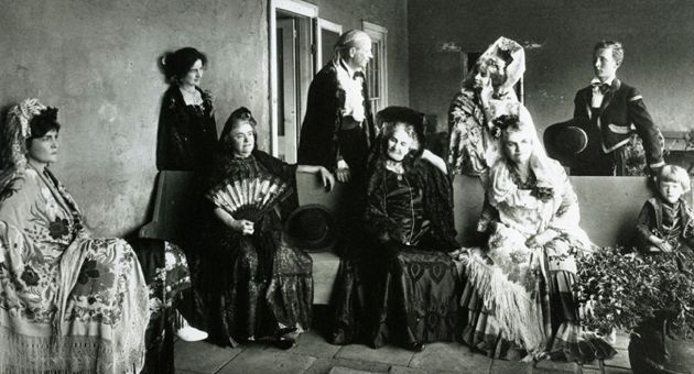 The De la Guerra family in 1924, in a photo from the collection of John Woodward. (Santa Barbara Historical Museum photo)