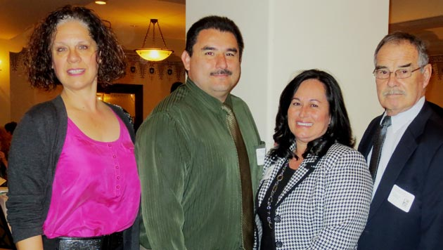 <p>From left, MTD's Kate Schwab, assistant general manager Jerry Estrada, director Olivia Rodriguez and Chuck McQuary.</p>