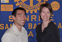 Darren Doi, left, and Dana Goba are two of three Rotary Club of Santa Barbara Sunrise members who were recognized by the Pacific Coast Business Times as 40 Under 40 business leaders. Elizabeth Werhane is not pictured.
