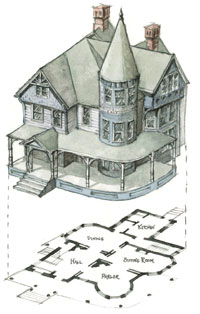 Victorian Queen Anne Style House Plans