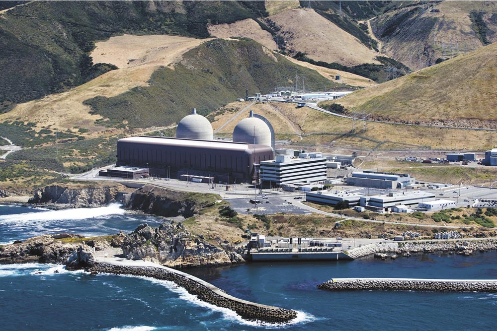 The PG&E Diablo Canyon plant in san Luis Obispo County