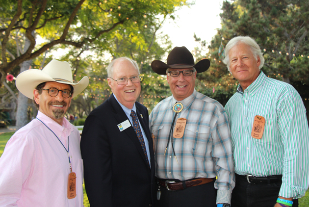 From left, Noozhawk publisher Bill Macfadyen, Santa Barbara Zoo CEO Rich Block, Montecito Bank & Trust COO George Leis and Randy Weiss, vice president of community relations for Union Bank.