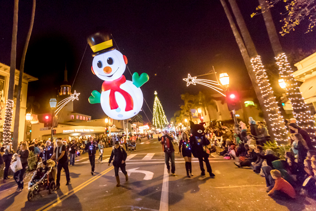 Santa Barbara's holiday parade, shown here in 2016, will be back Friday. Other festive events are planned throughout Santa Barbara County during December.