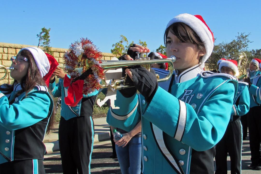 The Pioneer Valley High School Marching Band was among the participants in last year's Old Town Orcutt Christmas Parade. This year's parade starts at noon Dec. 12.
